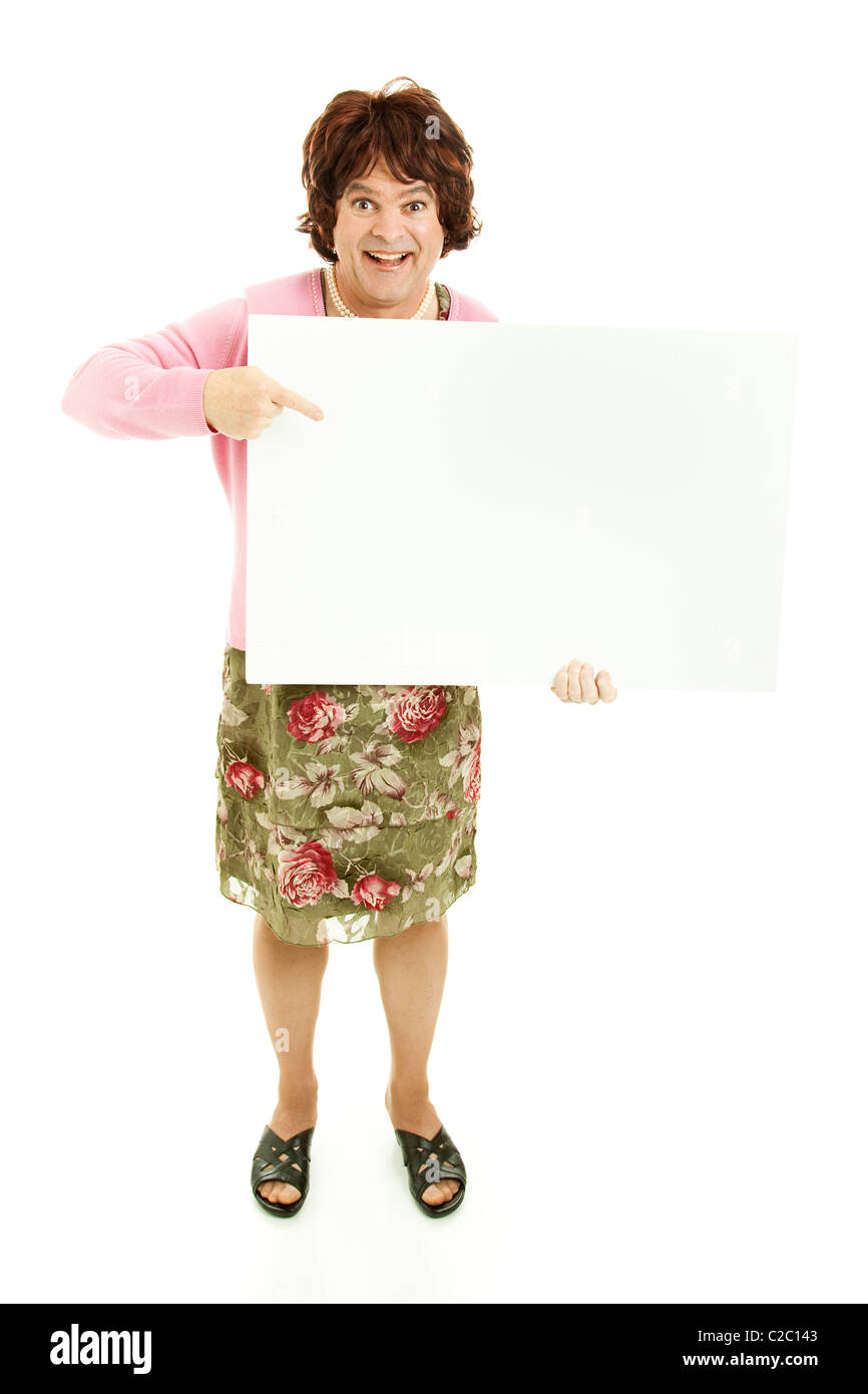 9bca9c7d15 Humorous photo of a man dressed as a woman