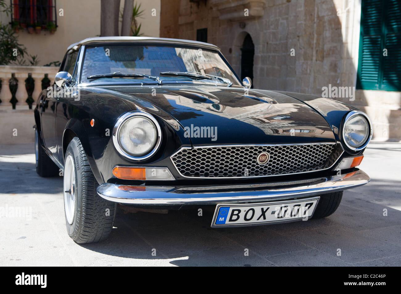 A Classic Fiat Sports Convertible Car Stock Photo 35916798 Alamy
