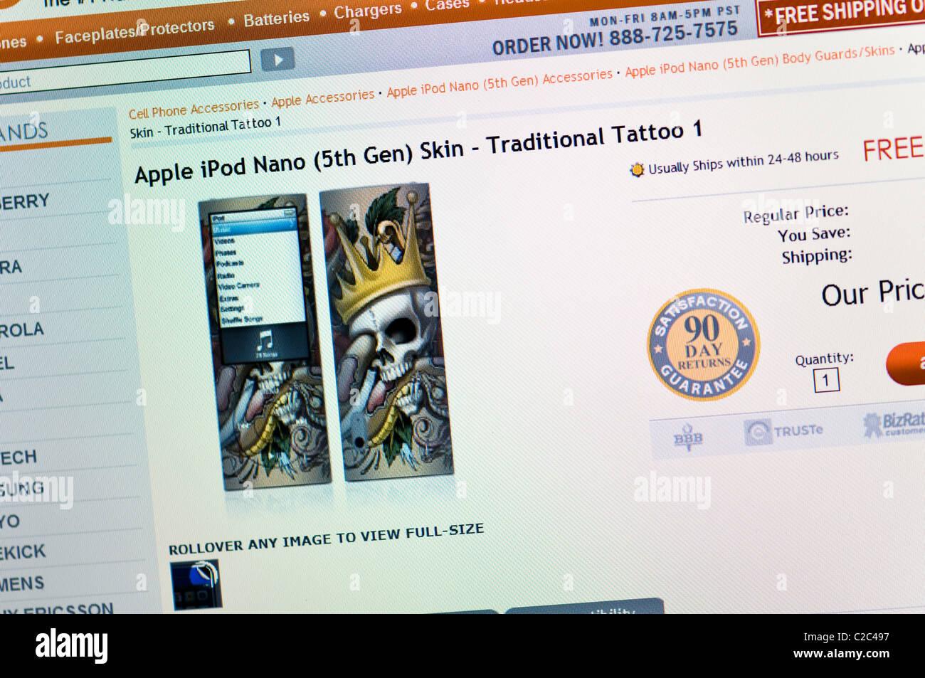 WE website screenshot - Stock Image