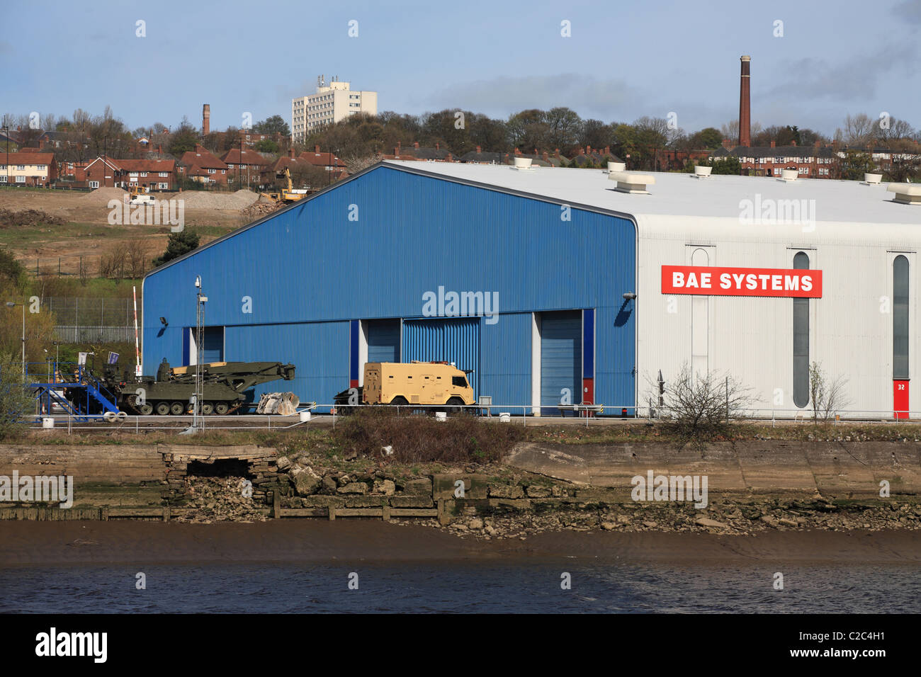 BAE Systems Armstrong Works, Scotswood, Newcastle, North East England, UK - Stock Image