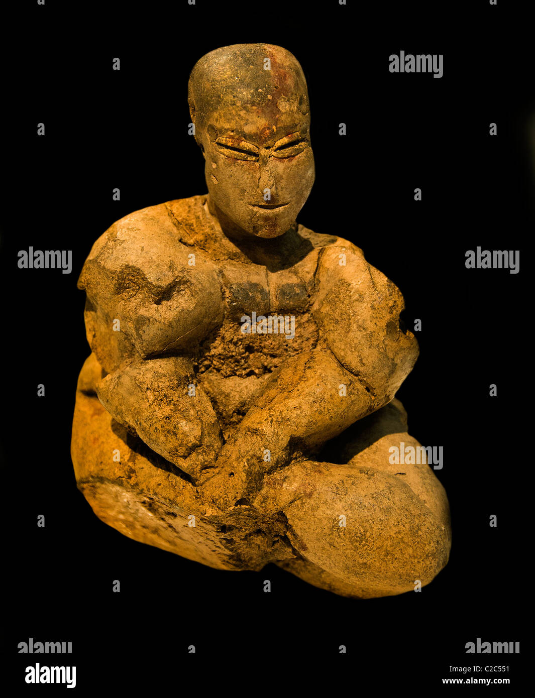 Mother God Goddess  Syria 8000 BC Tel Seker Al Aheimar  near Tell Tamor Neolithic site - Stock Image