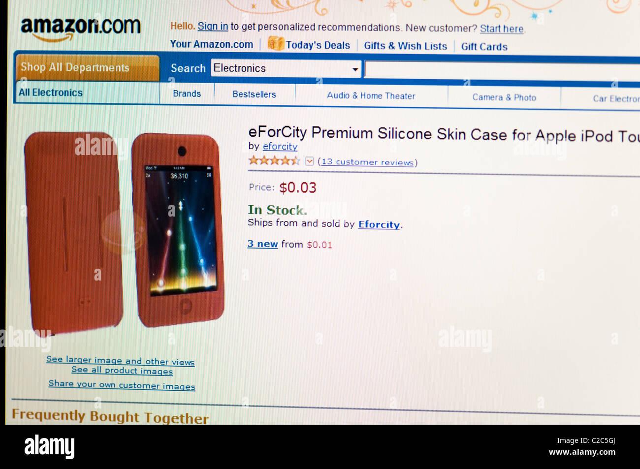 website screenshot - Stock Image