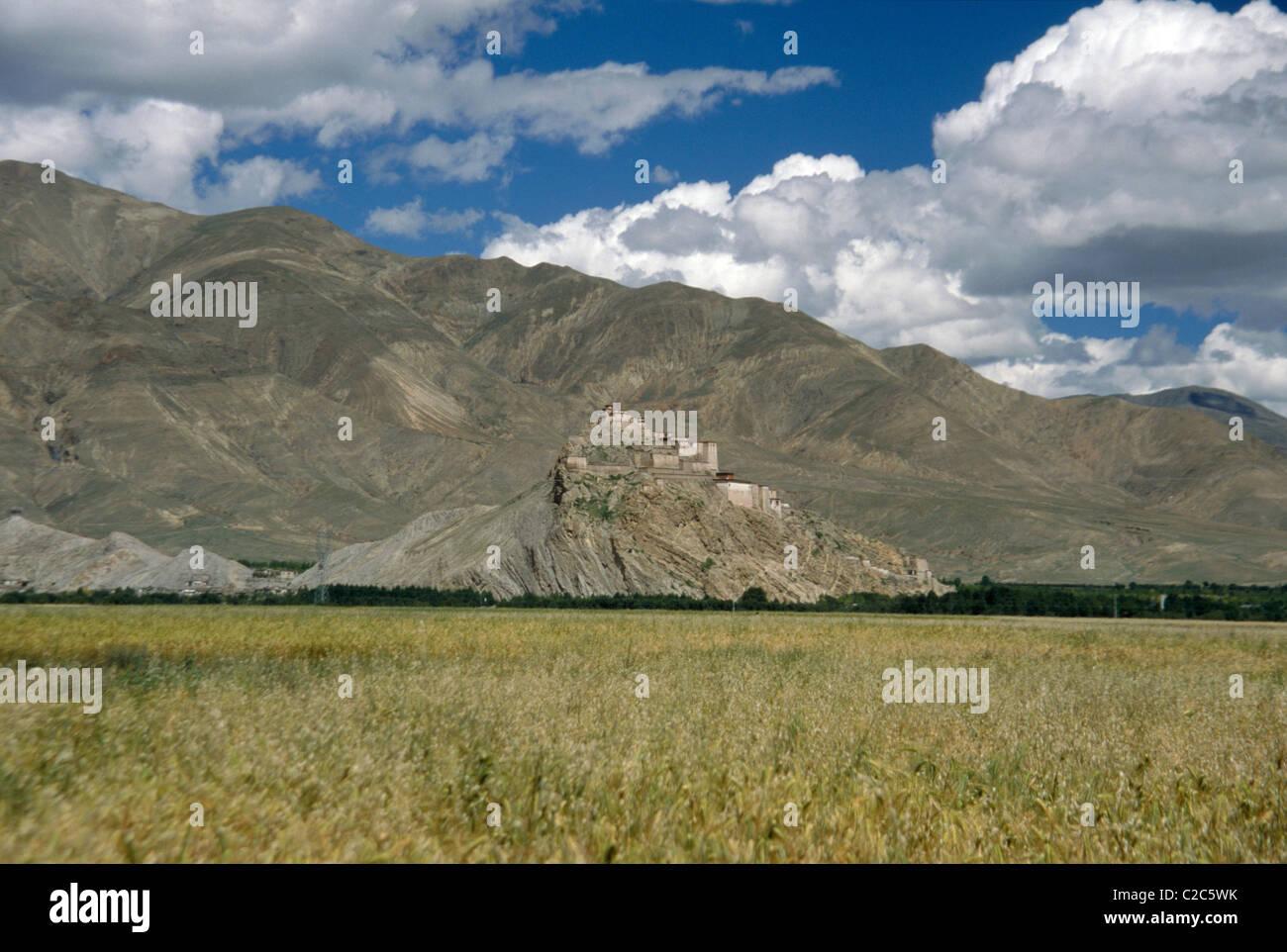 Gyantse Tibet China - Stock Image
