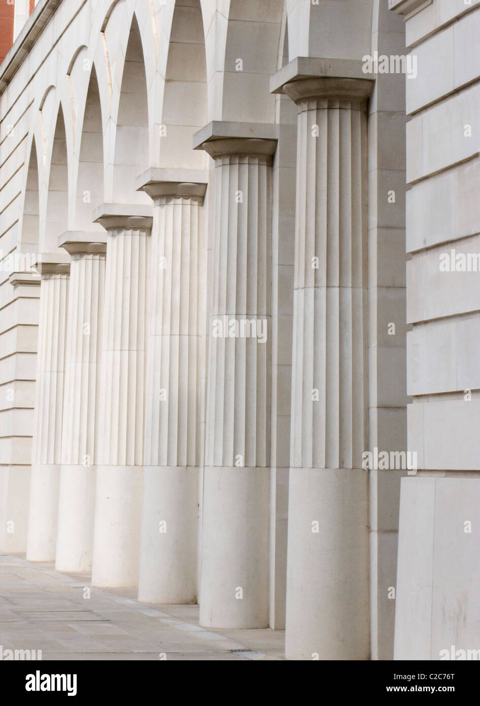 Columns carved stone roman style arch - Stock Image