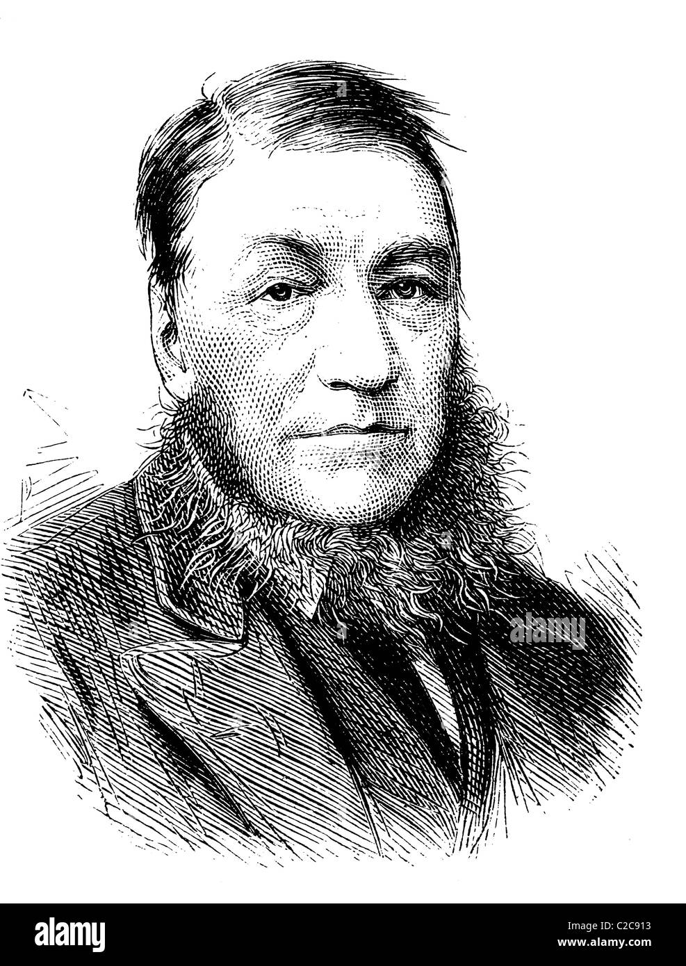 Paul Kruger, 1825-1904, President of the Transvaal Republic, historical illustration, circa 1886 - Stock Image
