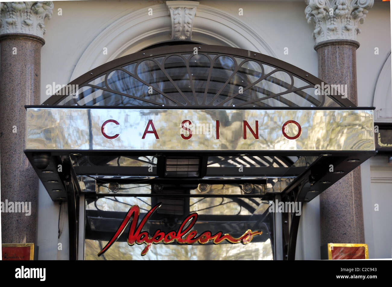 Napoleons casino sign Leicester square London - Stock Image