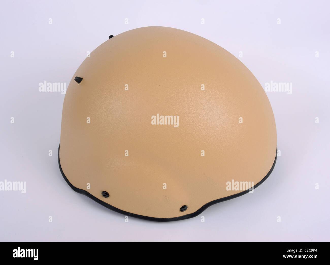 The latest in combat helmet technology. The British general service mark 7 helmet. - Stock Image