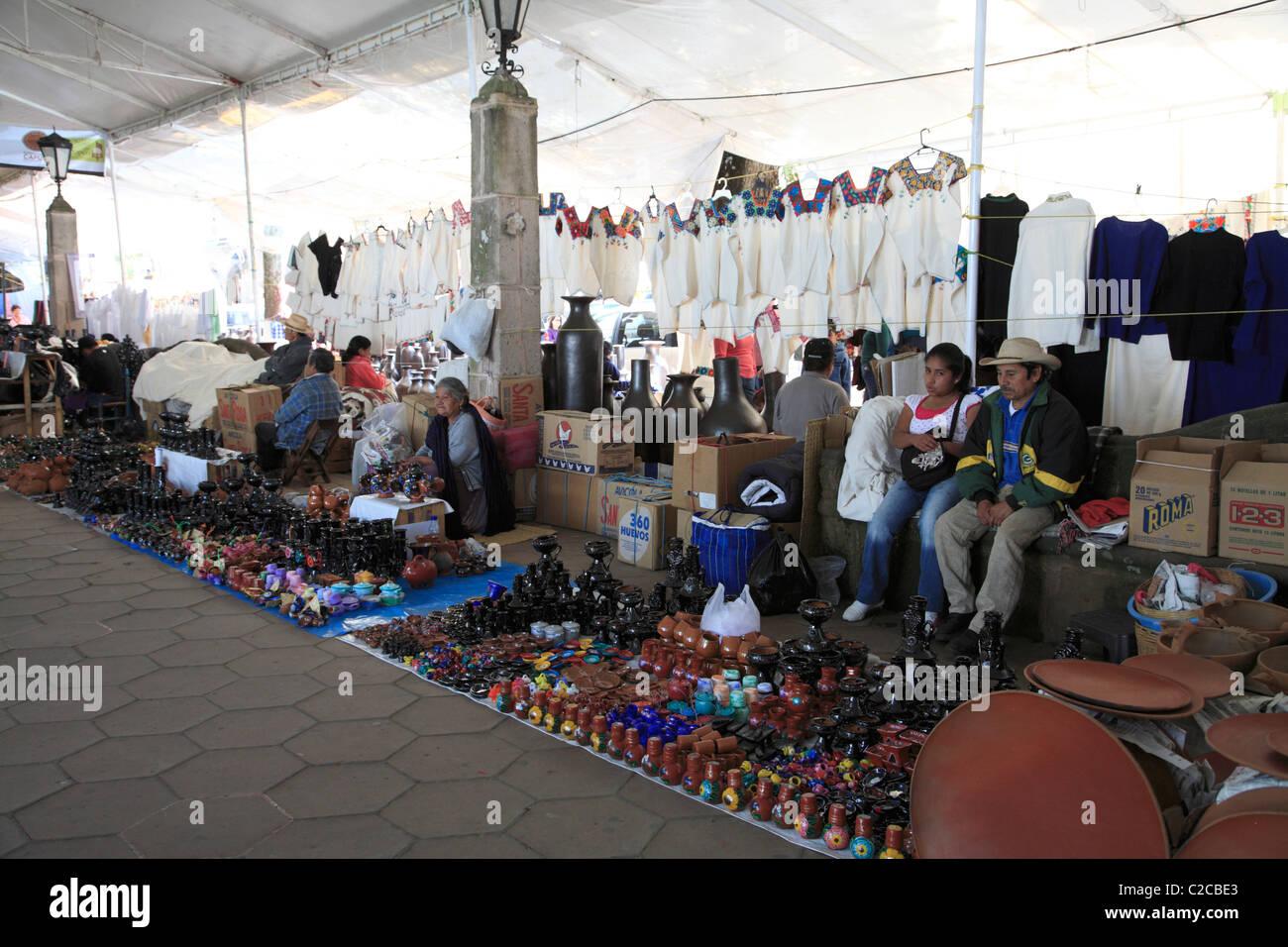 Handicraft market, Day of the Dead, Patzcuaro, Michoacan state, Mexico, North America - Stock Image