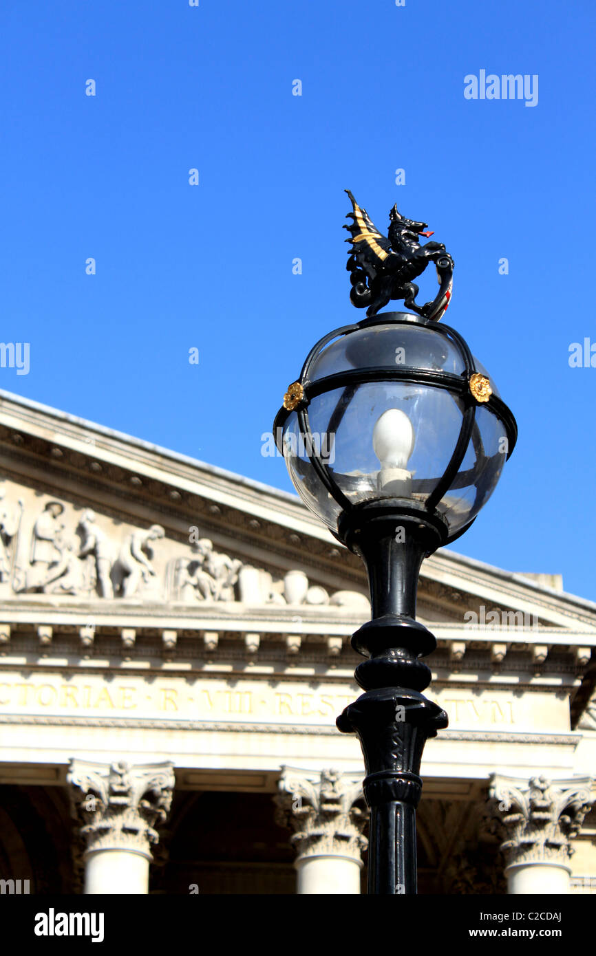 Dragon Detail, Royal Exchange, City of London, England, UK - Stock Image