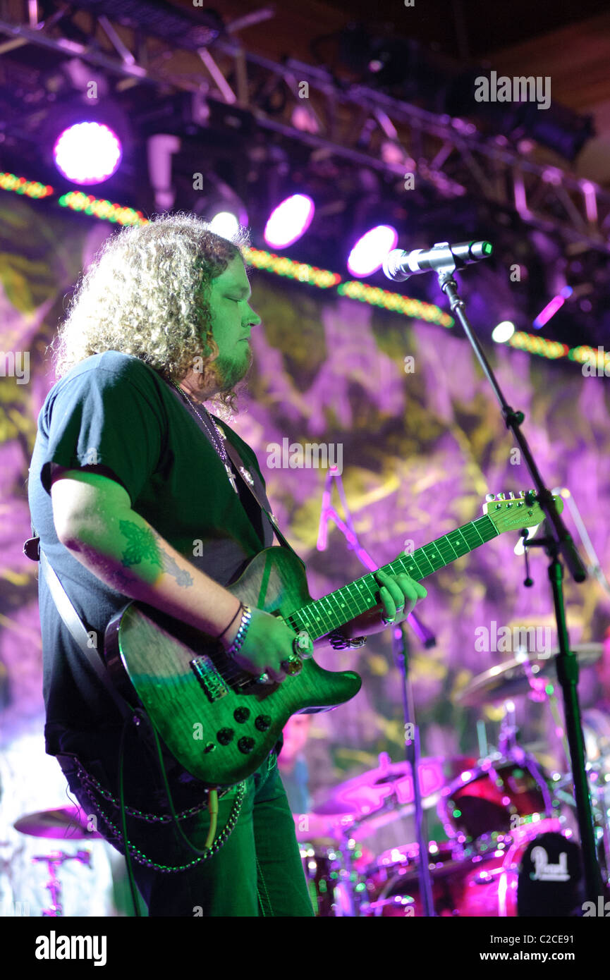 April 08, 2011, Sacramento, CA - Bart Walker performs on stage at Thunder Valley Casino in Rocklin, CA - Stock Image
