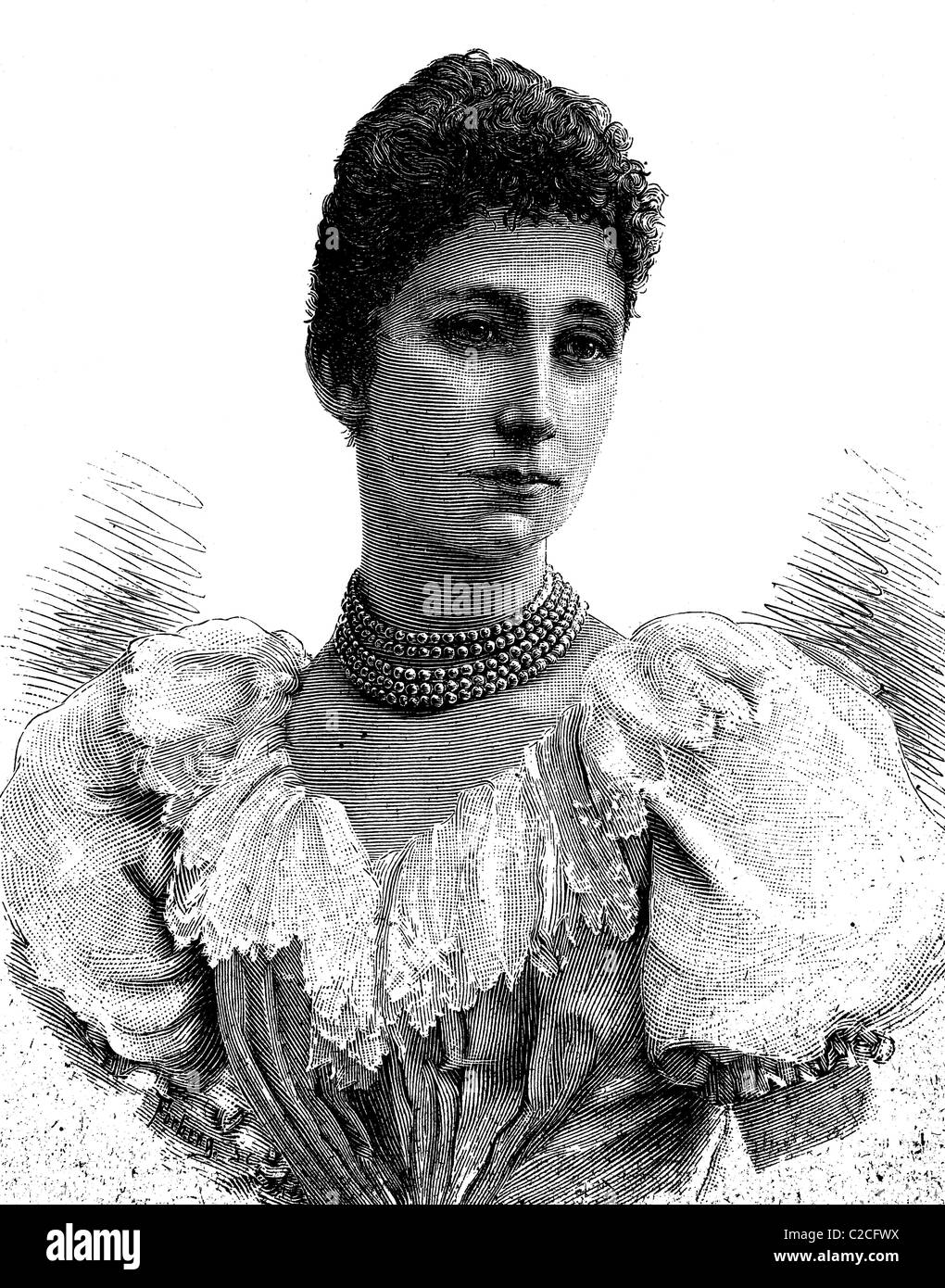 Louise Marie Thérèse d'Artois, 1819 - 1864, Regent of the Duchy of Parma, Piacenza and Guastella, - Stock Image