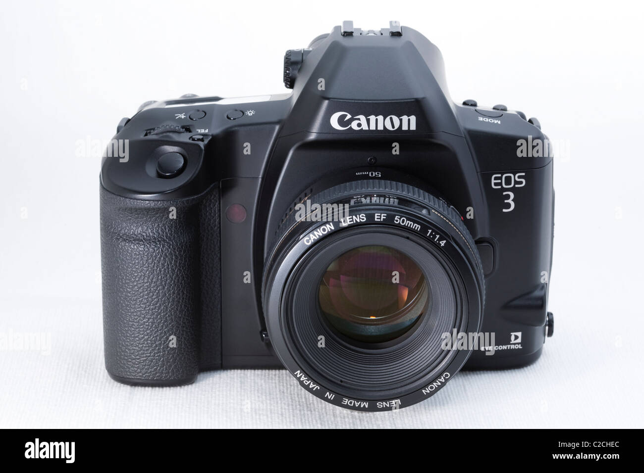 A 35mm film SLR camera. - Stock Image
