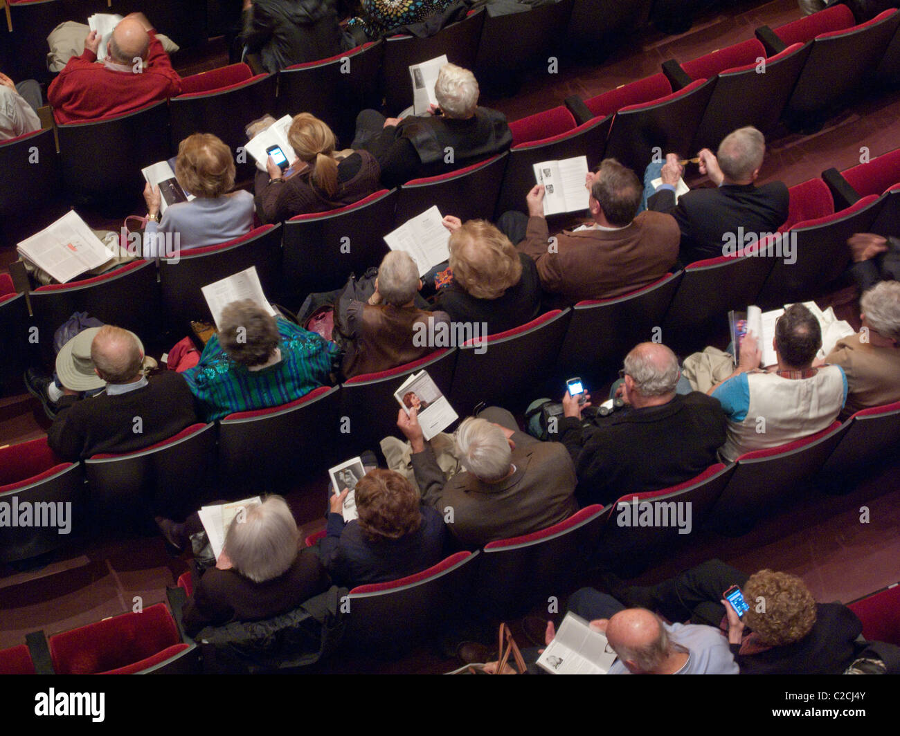 Waiting for the ballet to start - Stock Image