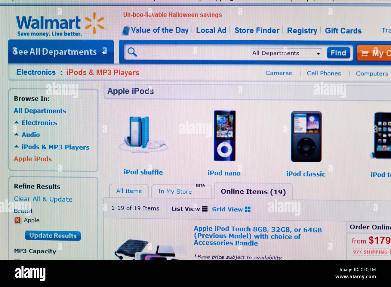 Walmart website screenshot - Stock Image
