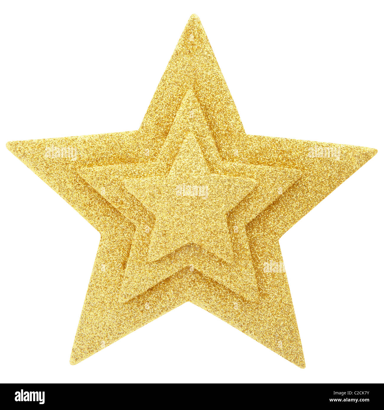 Gold star - Stock Image