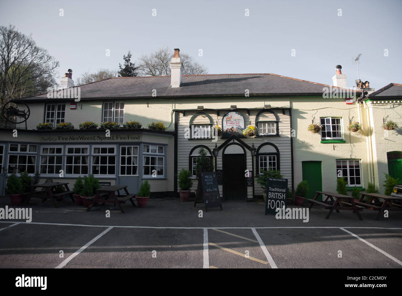 The New Forest Inn, Emery Down in the New Forest Nr. Ringwood - Stock Image