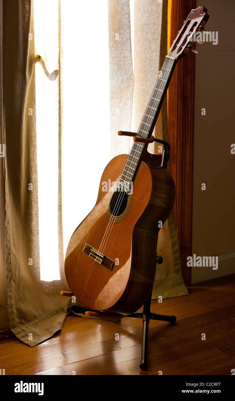 Classical Spanish guitar - Stock Image