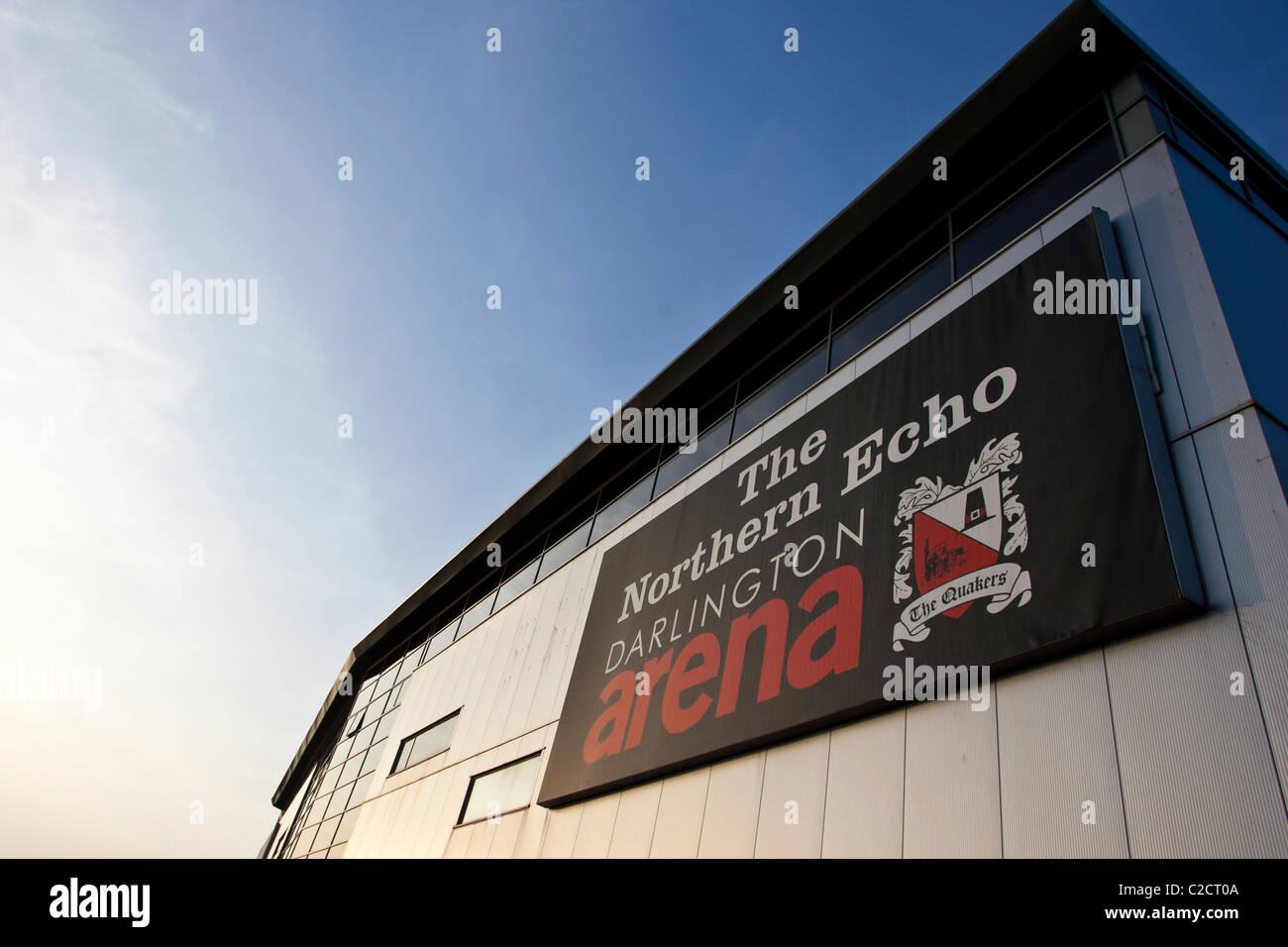 The Northern Echo Darlington Arena, home of Darlington Football Club. - Stock Image
