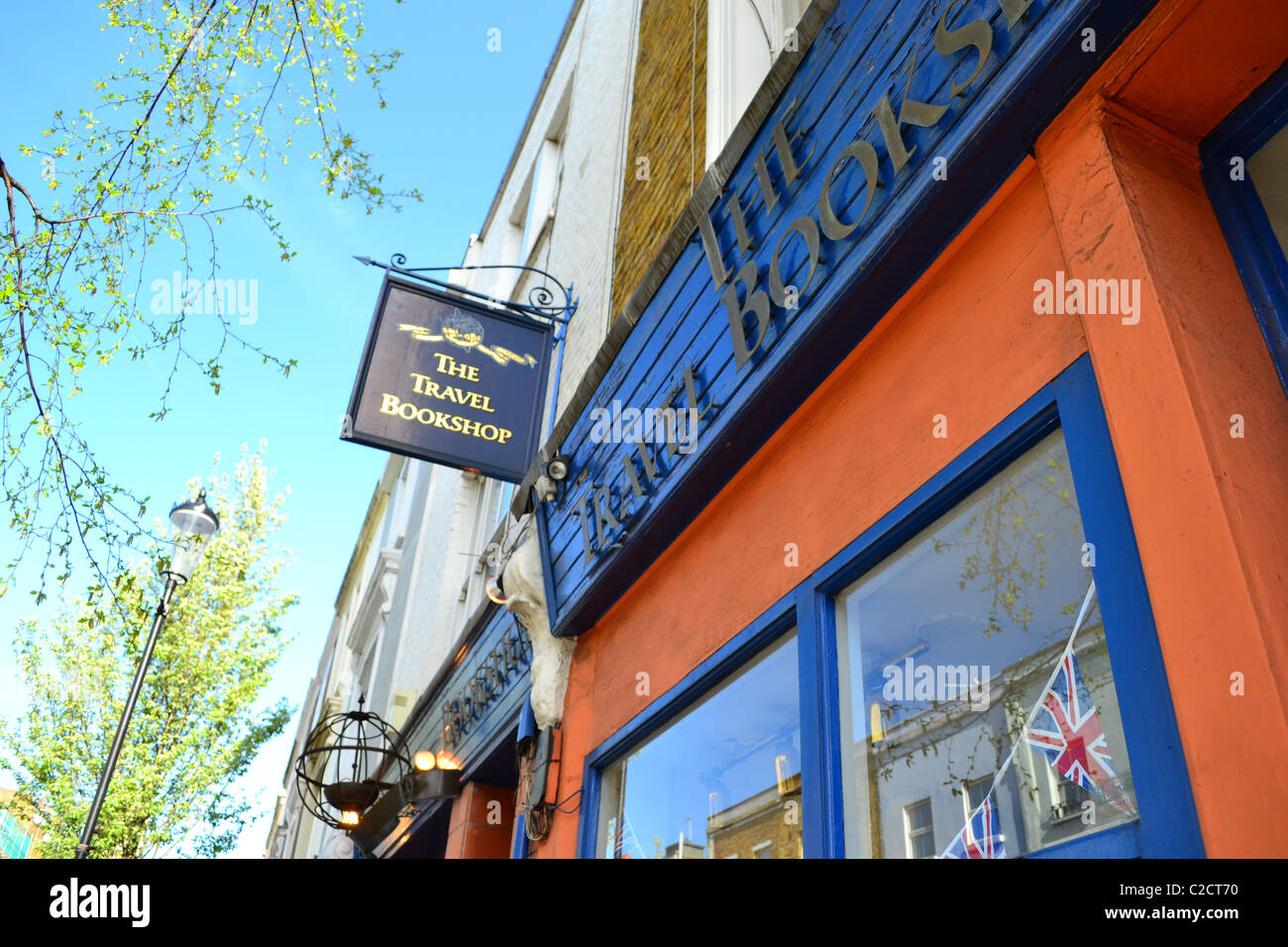 'The Travel Bookshop' that inspired the 2000 film. Near Portobello Road, Notting Hill, London, UK ARTIFEX - Stock Image