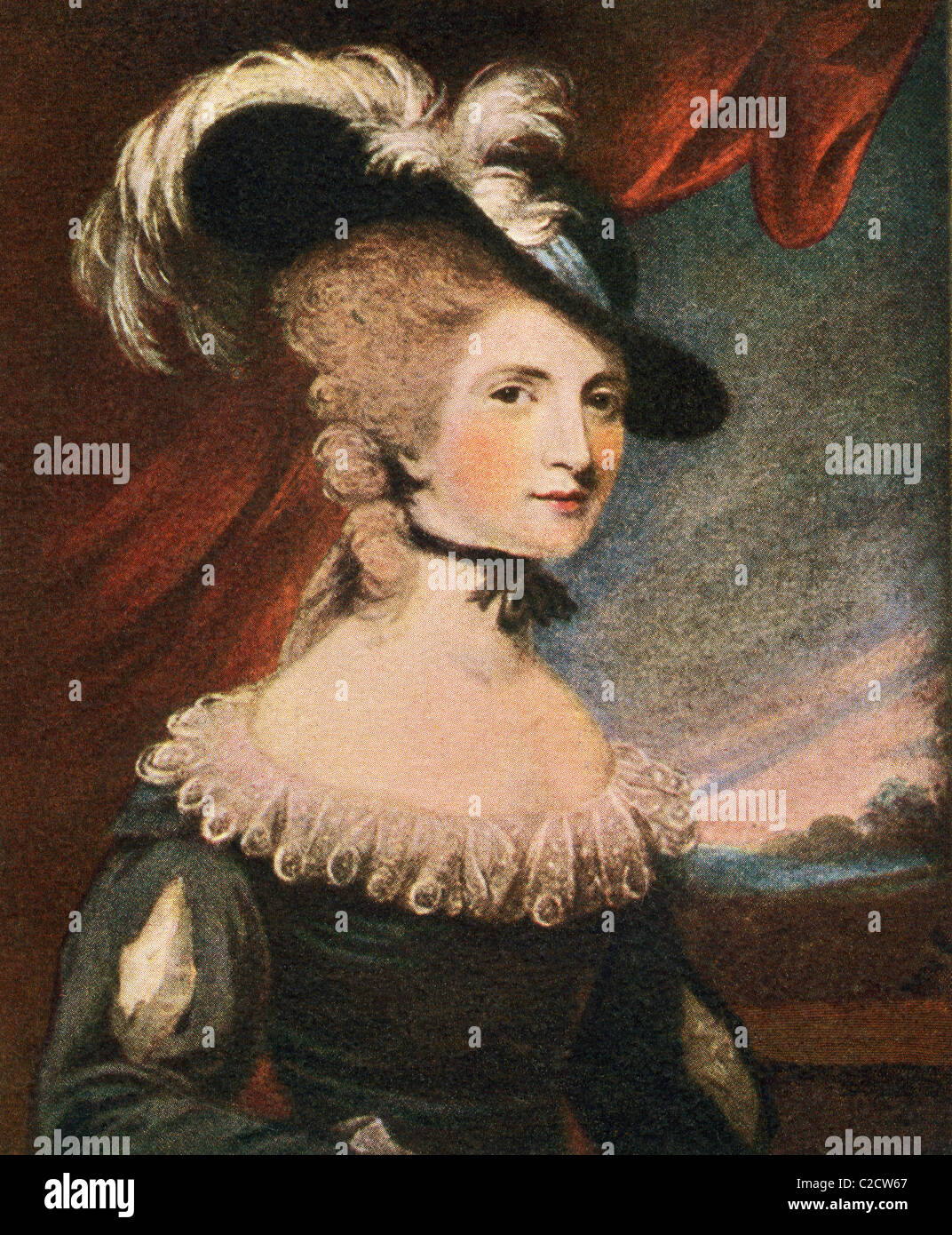 Mary Robinson née Darby, 1757 to 1800. English poet, actress and novelist, aka The English Sappho and for her - Stock Image