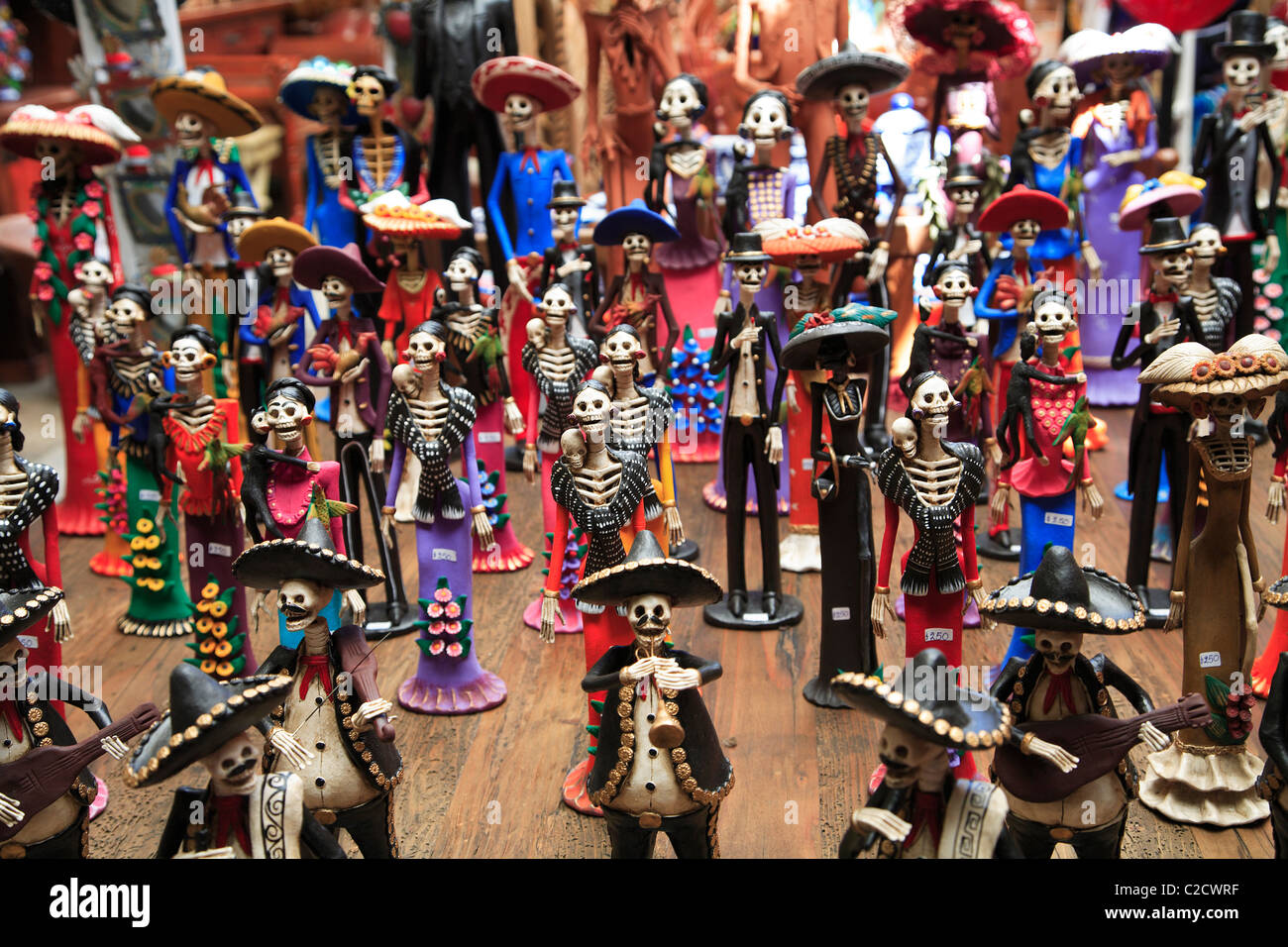 Day Of The Dead Skeletons Folk Art Patzcuaro Michoacan State Mexico