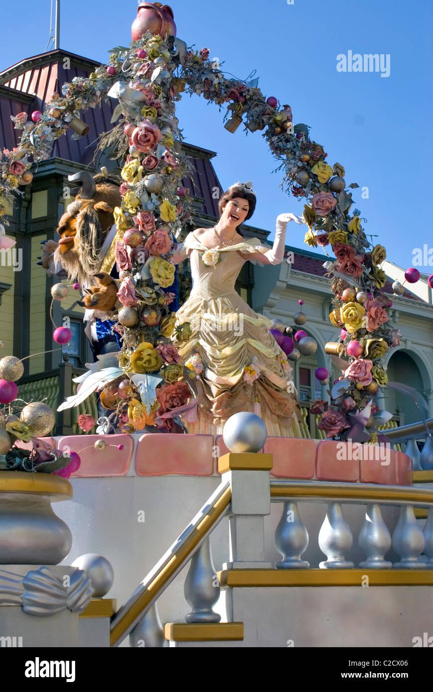 Beauty And The Beast Parade Float Walt Disney World Orlando Stock Photo Alamy
