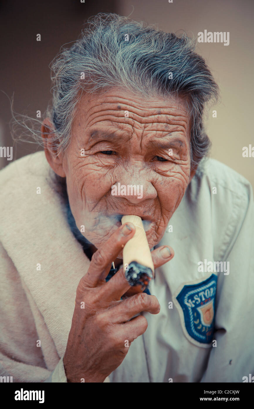 Inhaling wisdom - Stock Image