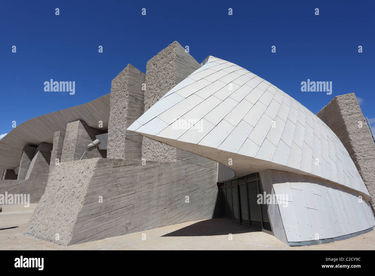 Futuristic Building of the South Tenerife Convention Center - Stock Image