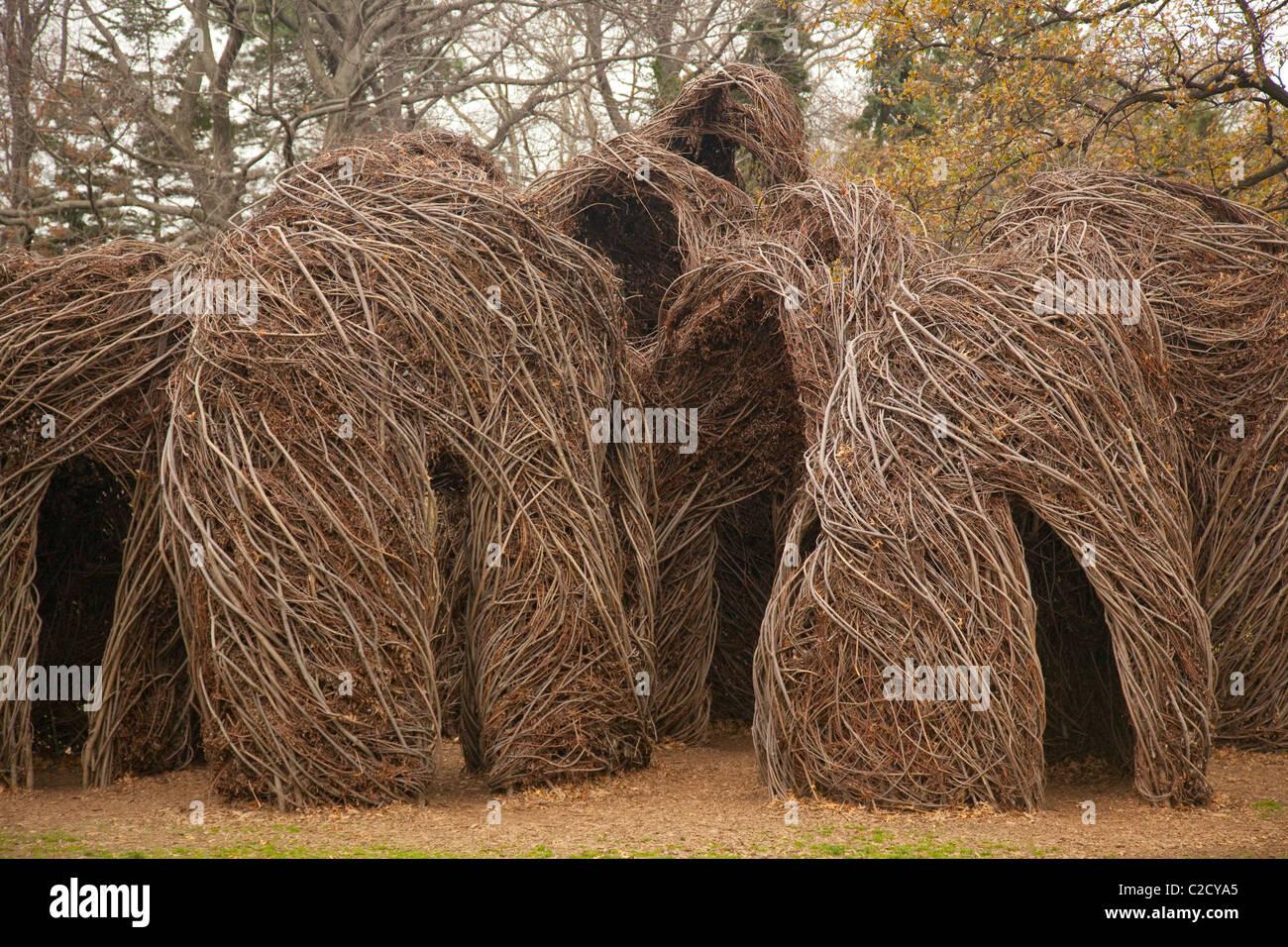 Willow Shelter Sculpture Stock Photos & Willow Shelter Sculpture ...