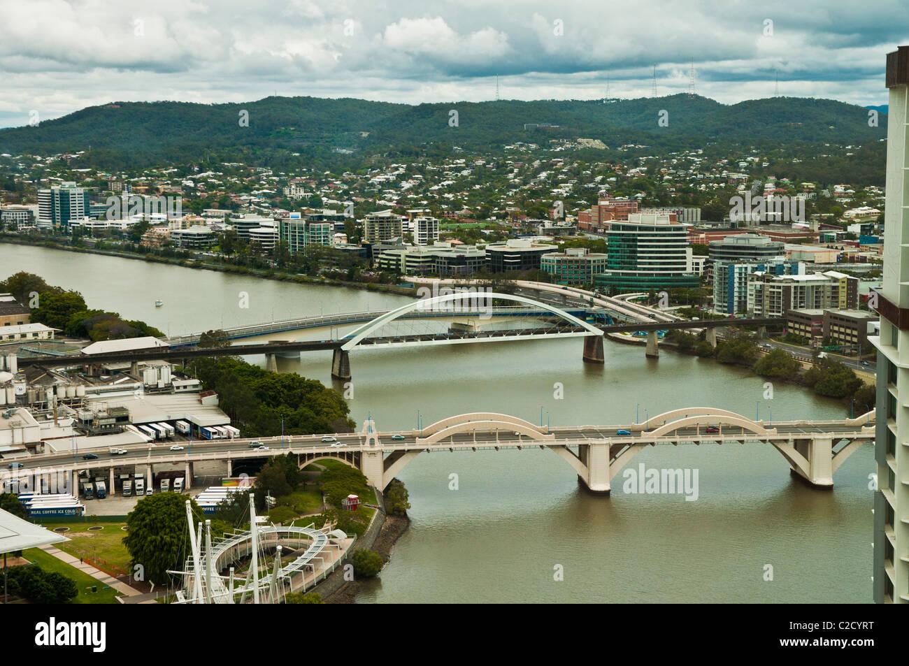 Brisbane City from Santos Place, Brisbane CBD, Queensland, Australia - Stock Image