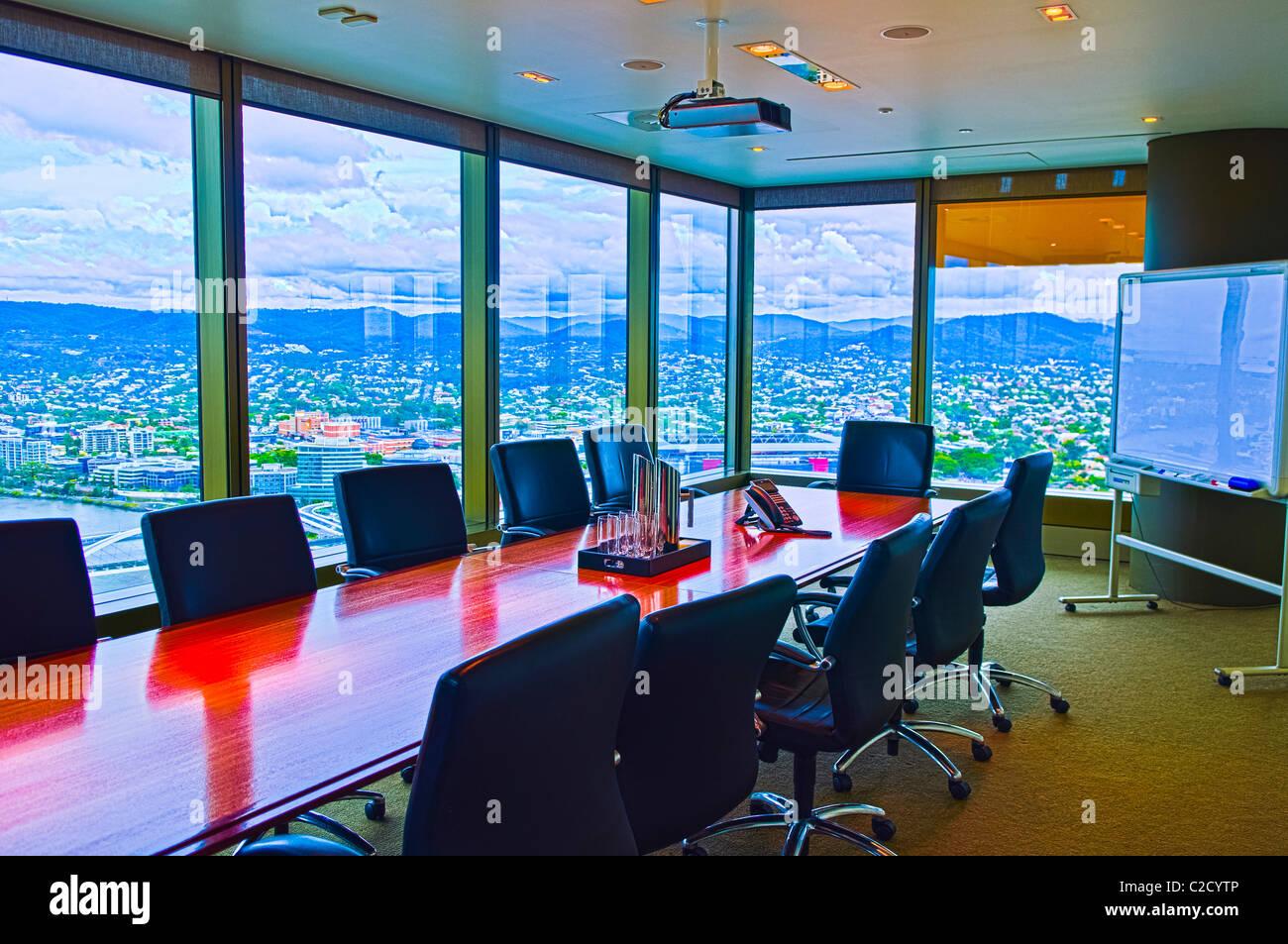 Executive meeting room, Santos Place, Brisbane CBD, Queensland, Australia - Stock Image