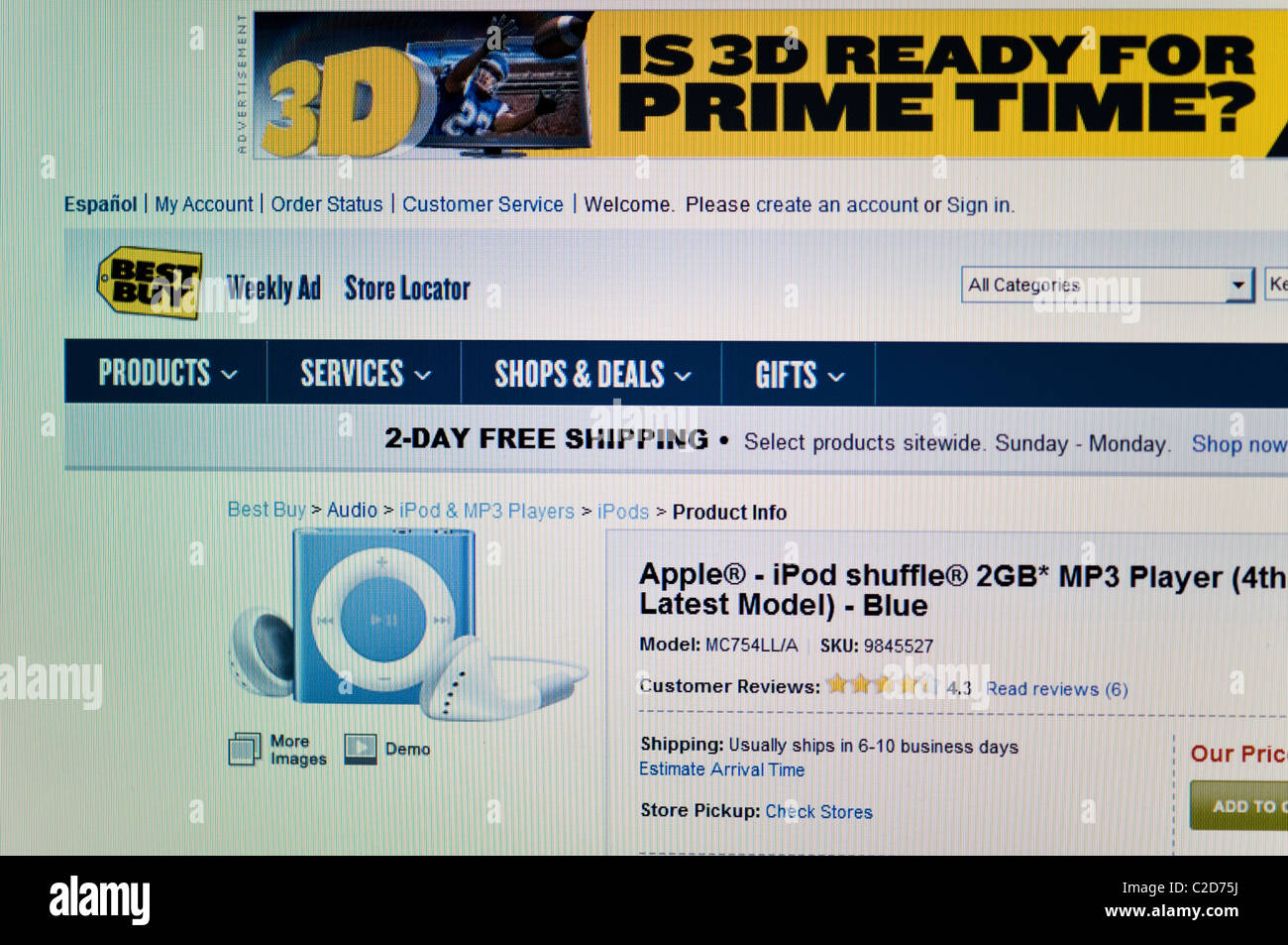 iPod, bestbuy com store website online Stock Photo: 35941070 - Alamy