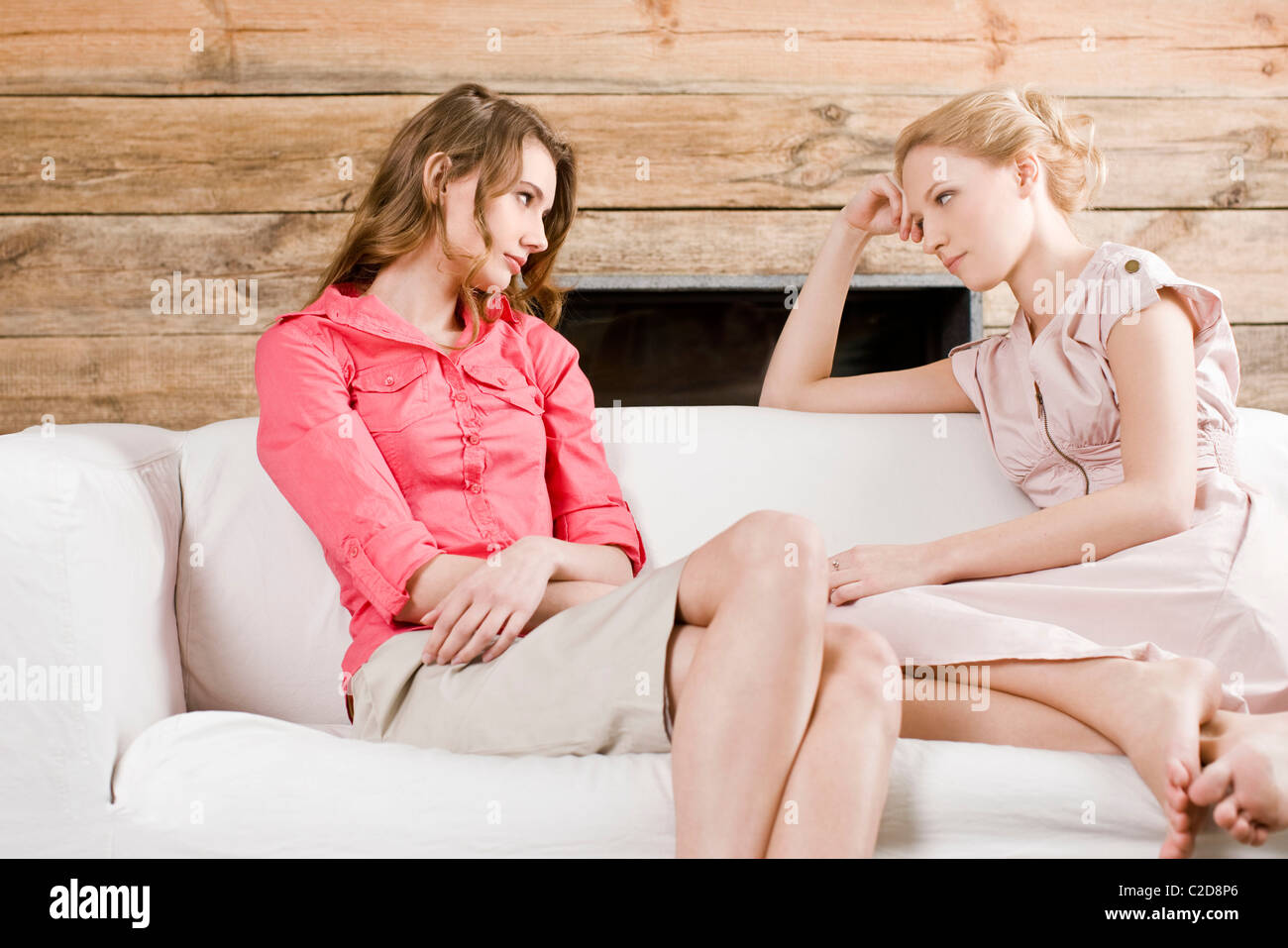 Two women arguing - Stock Image