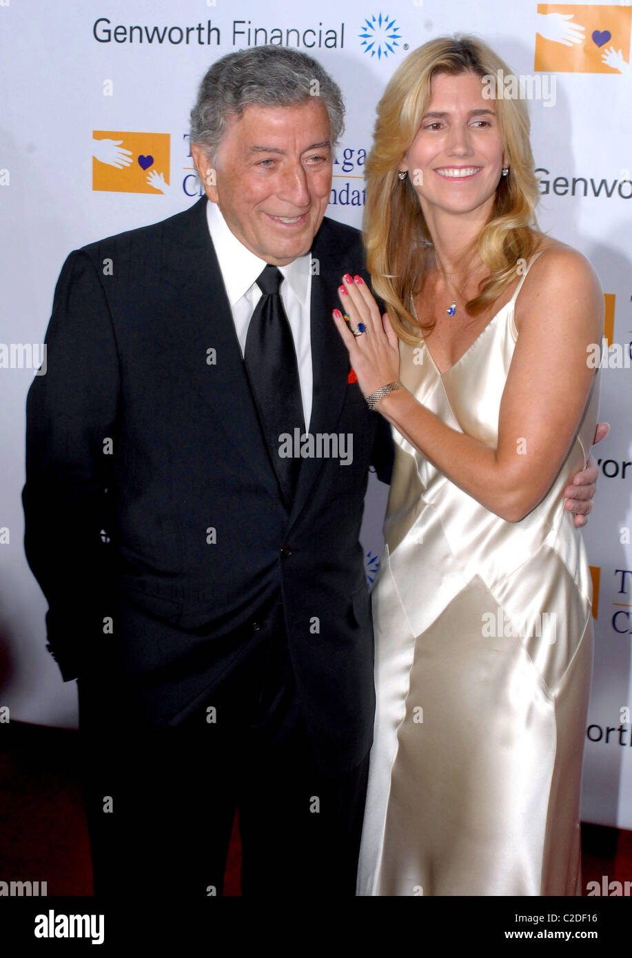 Tony Bennett and Susan Crow Andre Agassi Grand Slam for Children benefit at the MGM Grand Las Vegas, Nevada - 06.10.07 - Stock Image