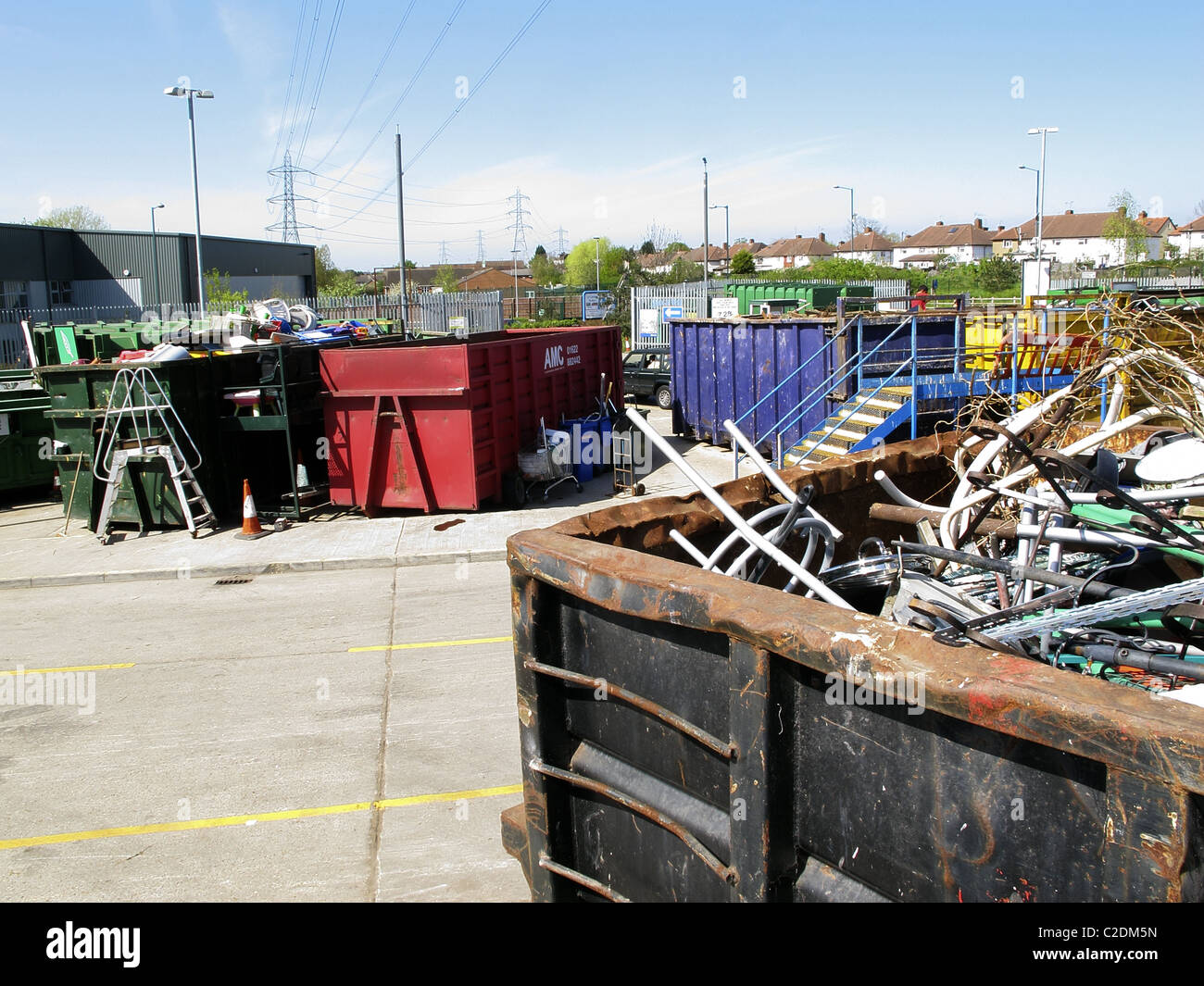 Sutton council waste recycling centre. - Stock Image