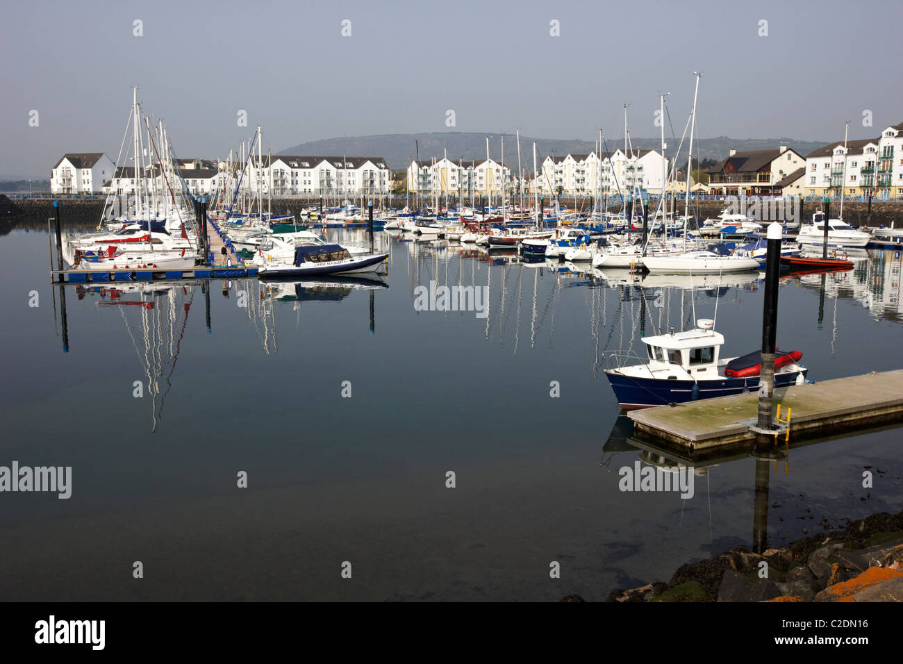 Carrickfergus marina county antrim northern ireland - Stock Image