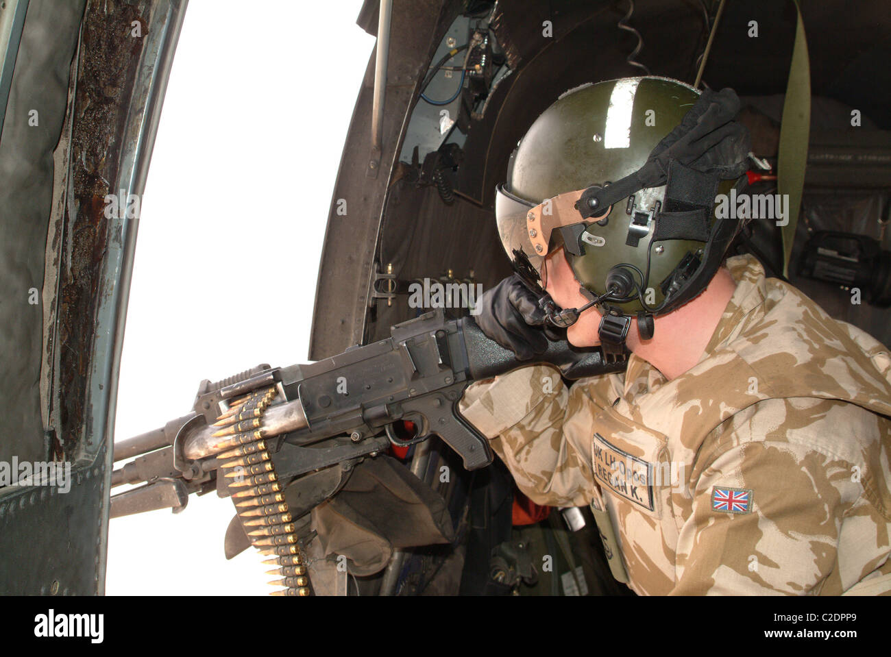 Royal Navy helicopter door gunner in Iraq. - Stock Image & Door Gunner Stock Photos u0026 Door Gunner Stock Images - Alamy