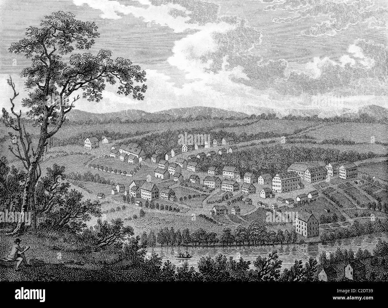 Moravian settlement at Bethlehem, Pennsylvania - Stock Image