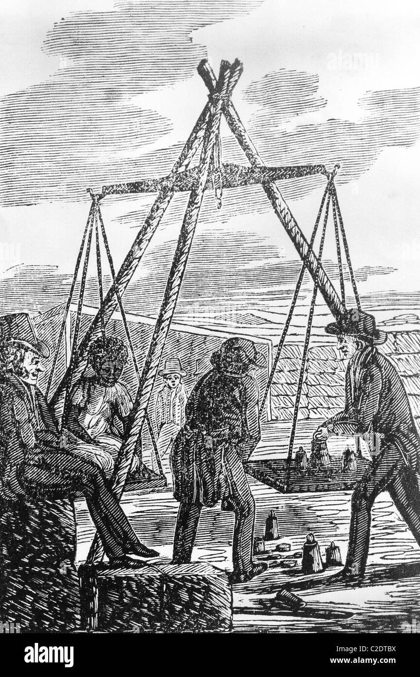 'Picture of Slavery' by G. Bourne, 1834 - Stock Image