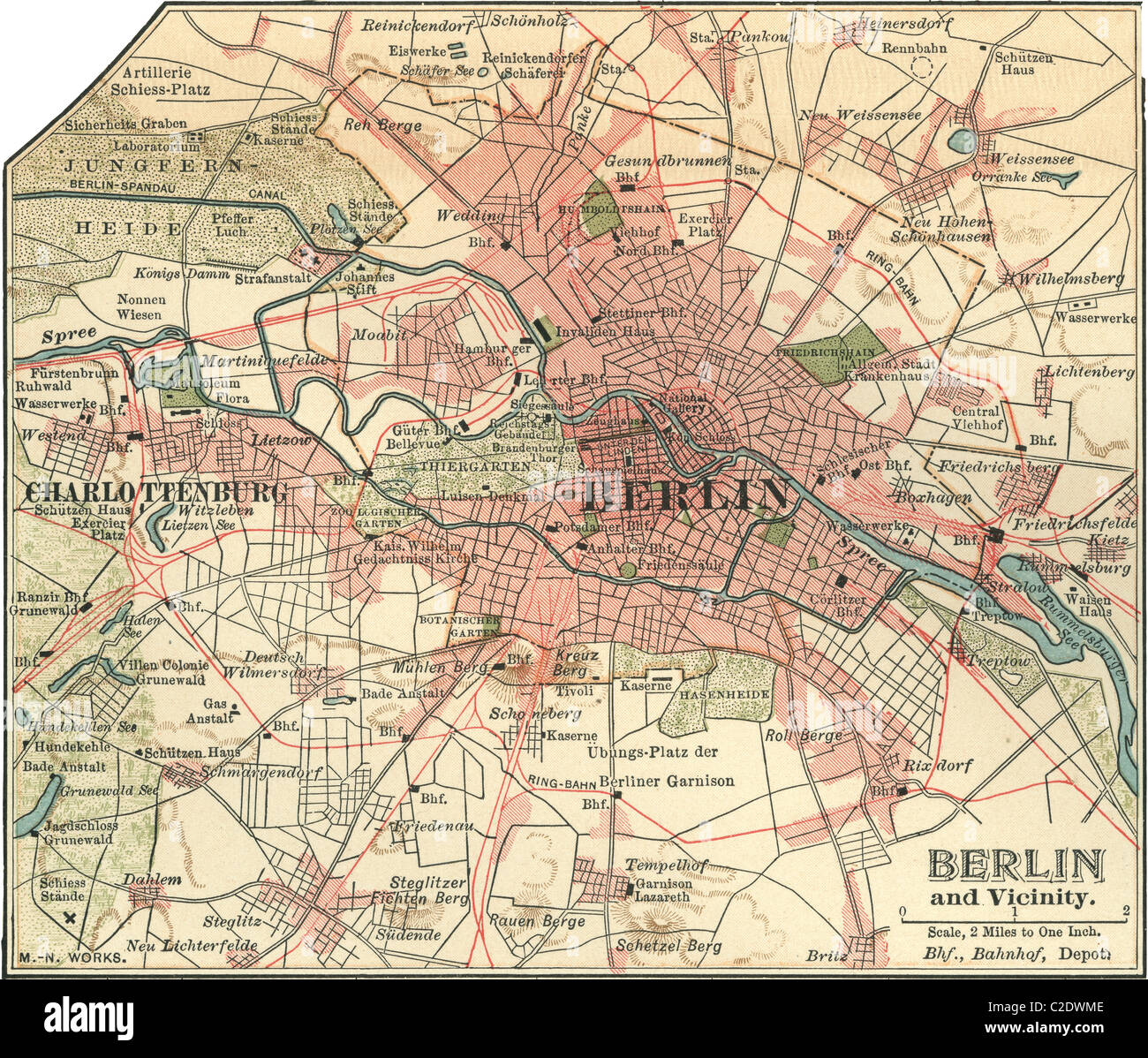 Map of Berlin Stock Photo: 35955598 - Alamy