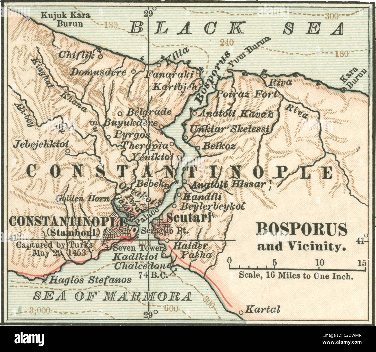 Constantinople Map Stock Photos & Constantinople Map Stock Images ...