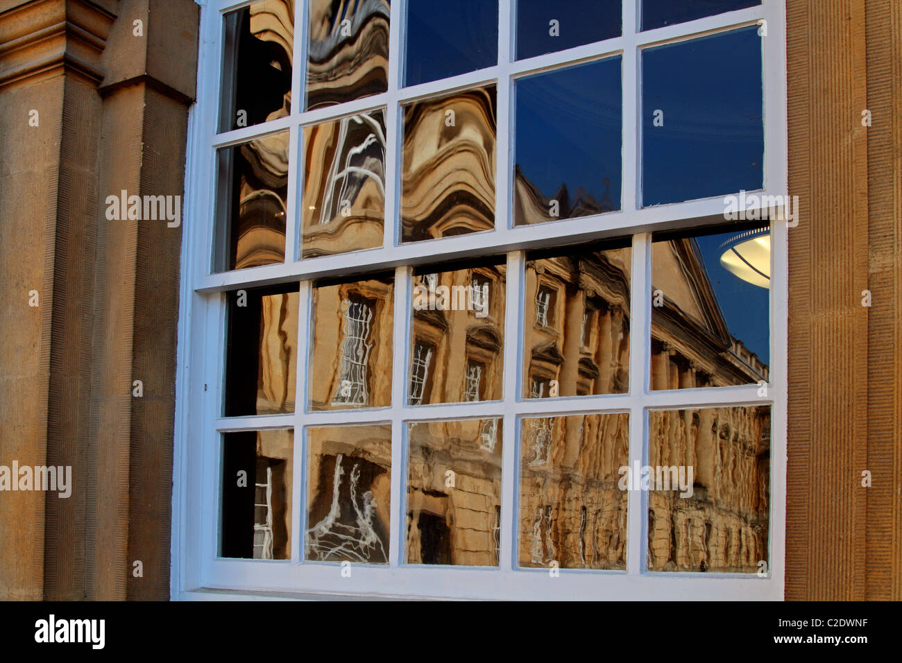 Oxford college reflection - Stock Image