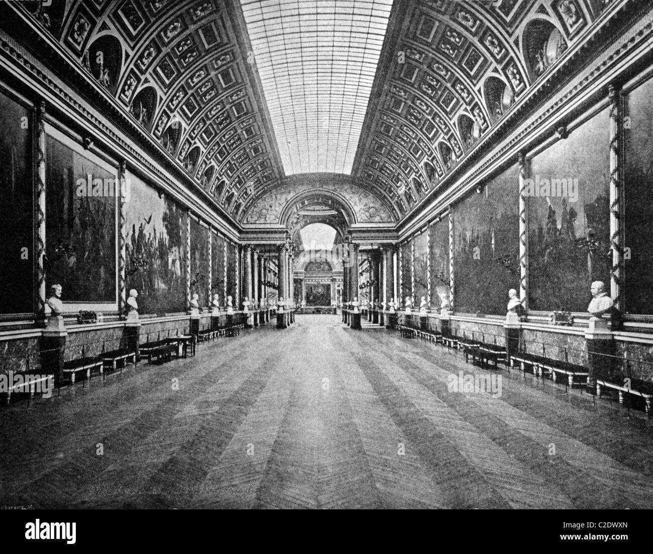 One of the first autotypes of the galerie des batailles in the palace of versailles