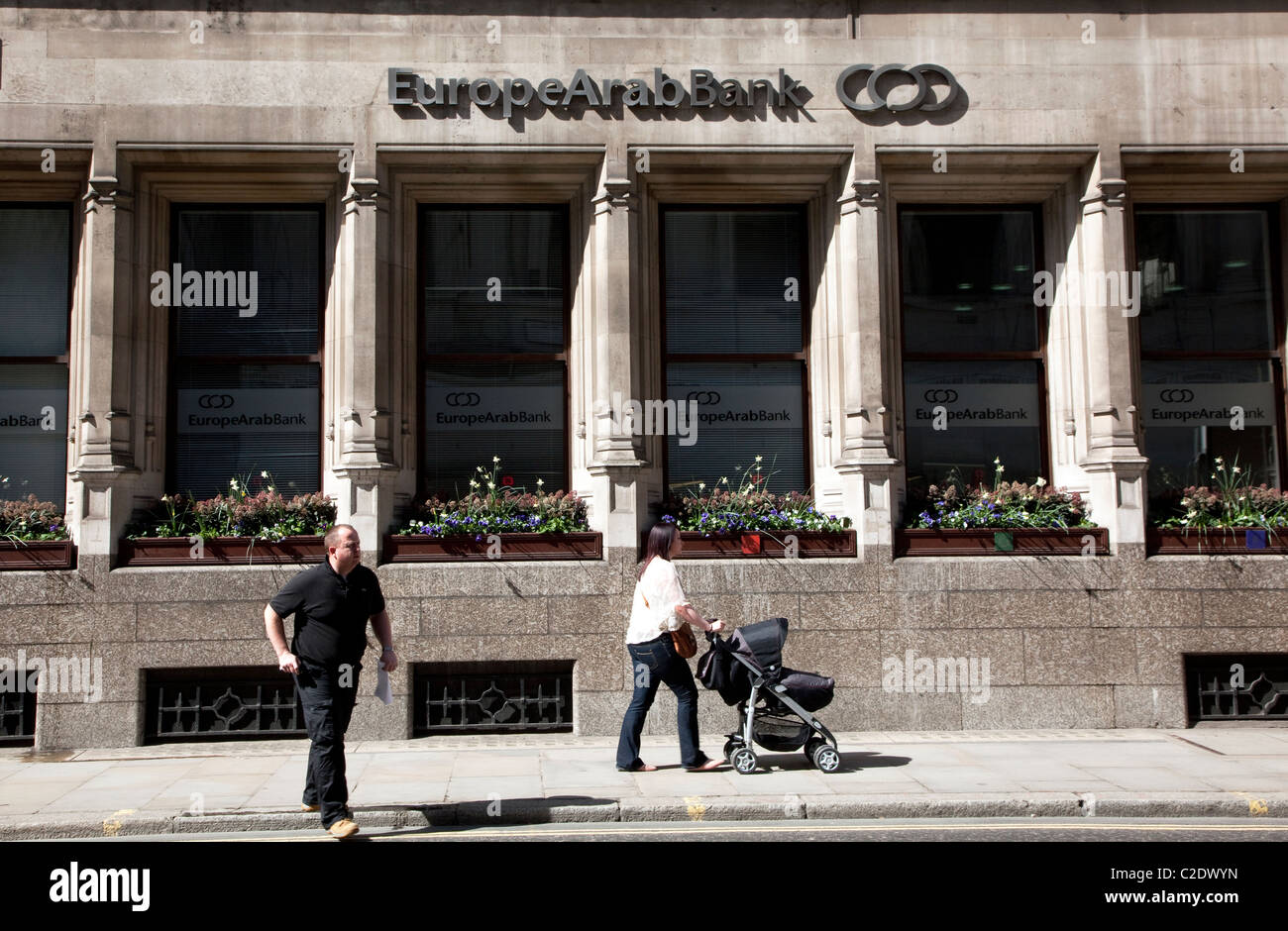 EuropeArab Bank, Moorgate, City of London - Stock Image