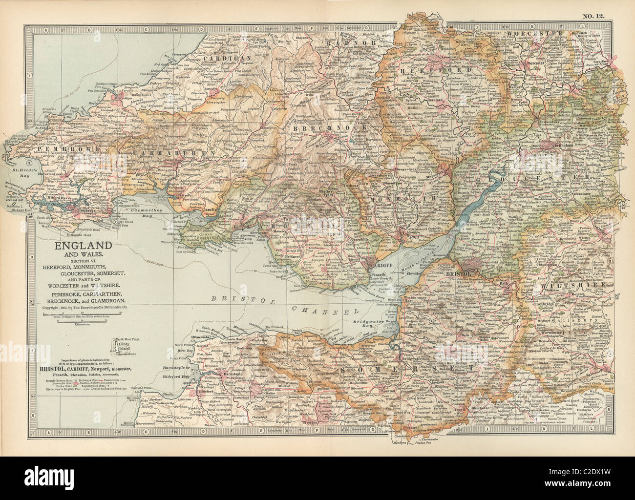 Map of England and Wales - Stock Image