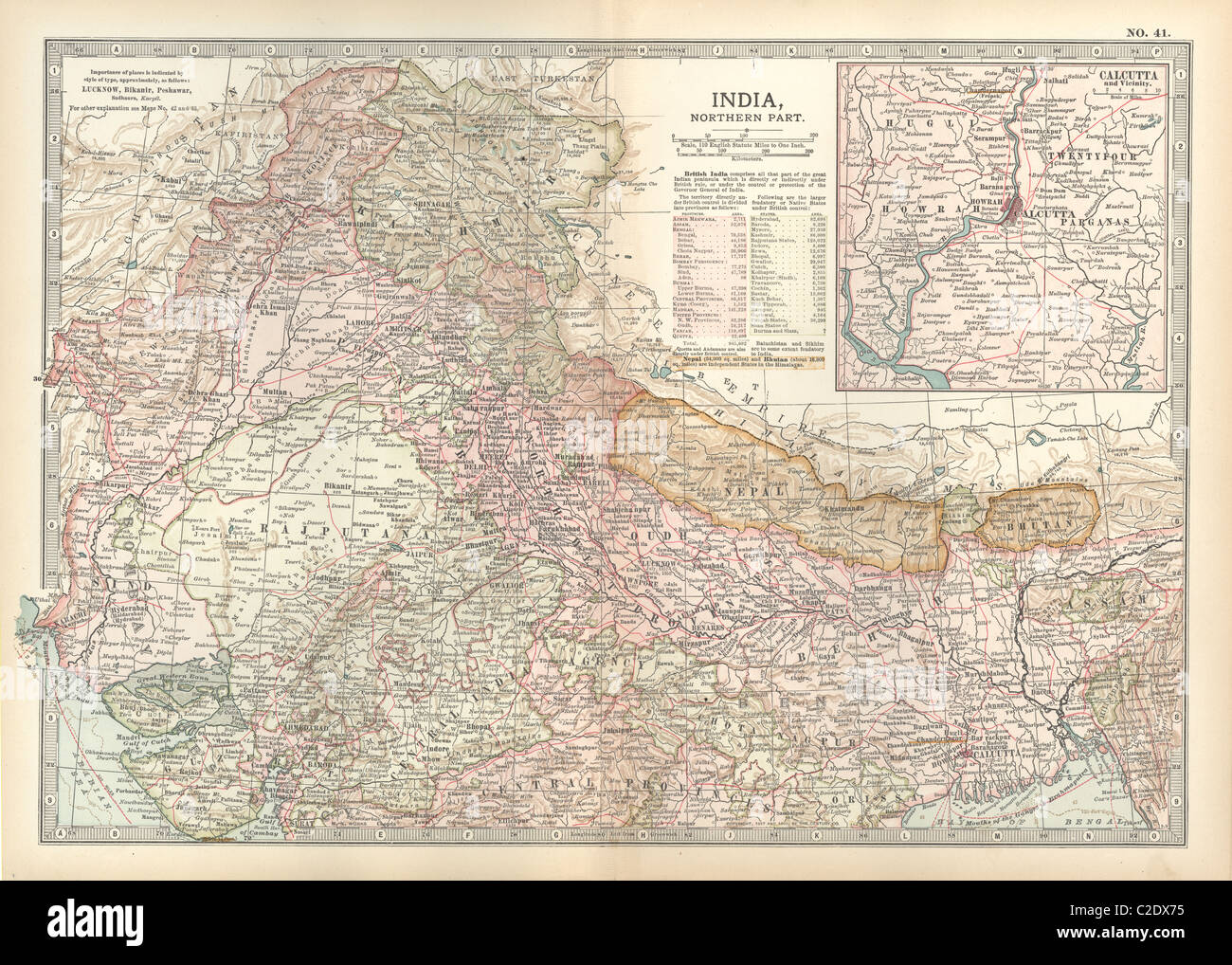 Map of northern India with Calcutta Stock Photo: 35956009 - Alamy Calcutta Map on