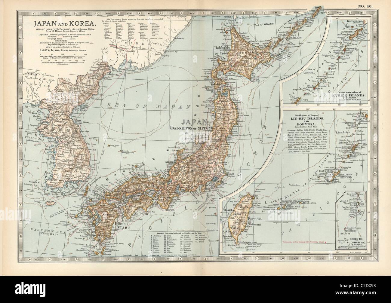 Korea japan map stock photos korea japan map stock images alamy map of japan and korea stock image gumiabroncs Image collections