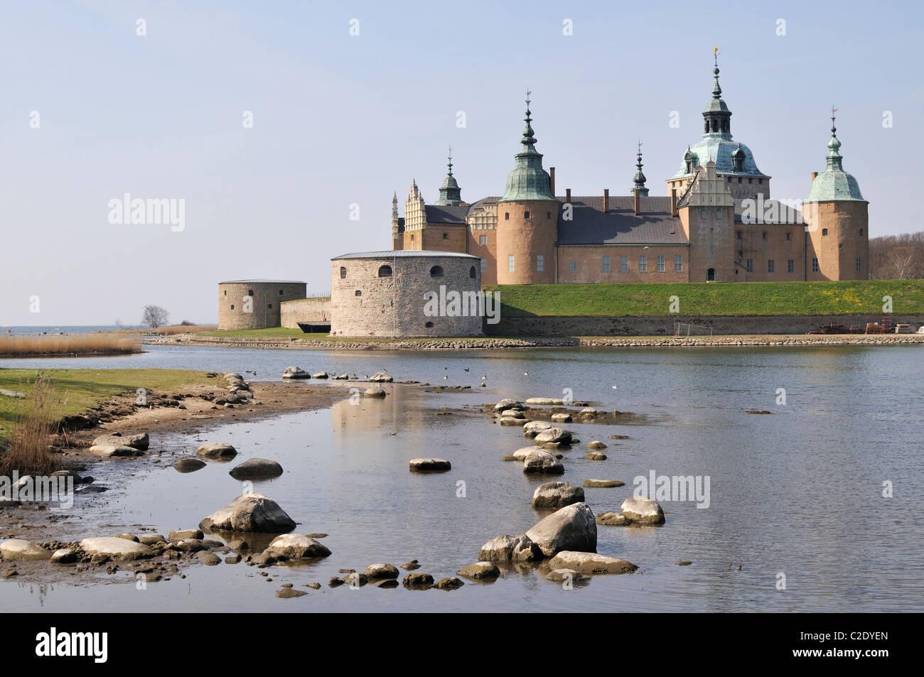 Kalmar Castle in Kalmar, Smaaland, Sweden - Stock Image