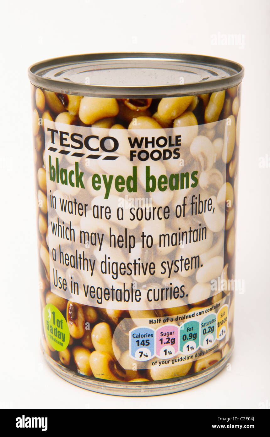 Black eyed beans can - Stock Image