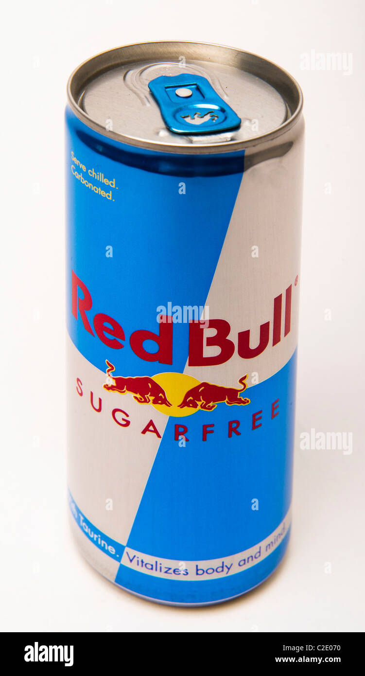 Drink Can From Blank Aluminum Stock Photo: Red Bull Drink Stock Photos & Red Bull Drink Stock Images